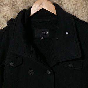 Hurley Jackets & Coats - Hurley Black Peacoat